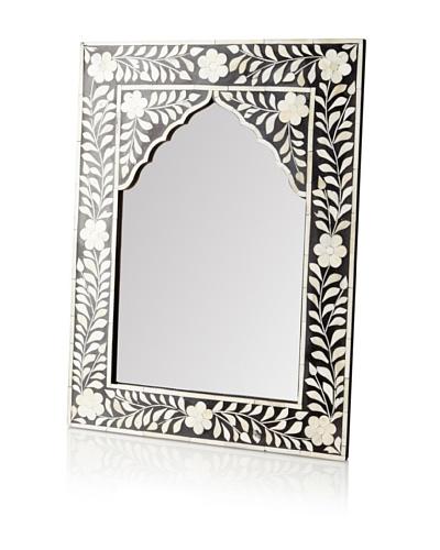 Mili Designs Arch Bone Inlay Mirror, Black