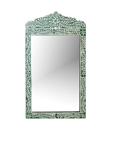Mili Designs Hina Green Bone Inlay Mirror