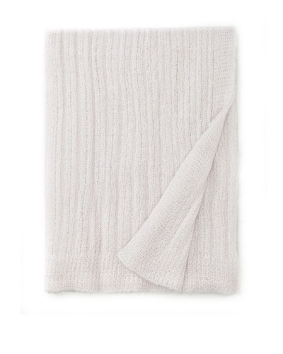 Mili Designs Light Knitted Throw, Pearl Grey, 59 x 79