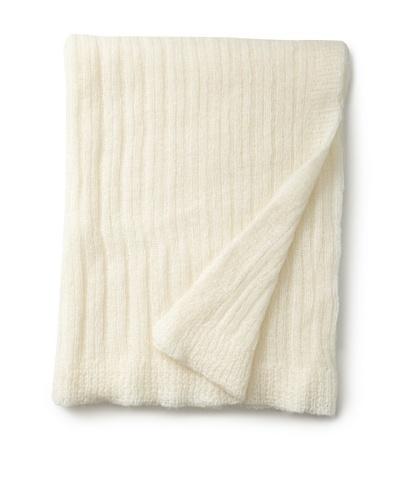 "Mili Designs Light Knitted Throw, Ecru, 59"" x 79"""