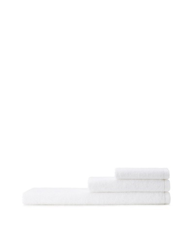 Mili Designs NYC Basic Towel Set with Contrast Border, White/White