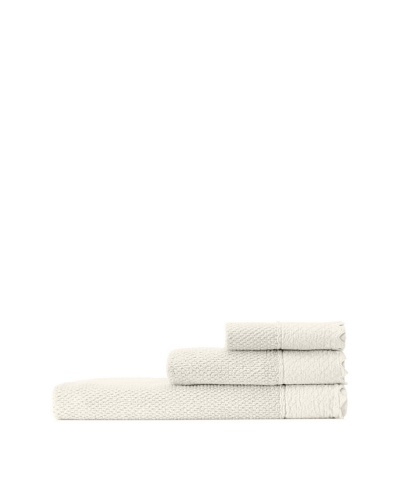 Mili Designs NYC Stonewash Towel Set, Ivory