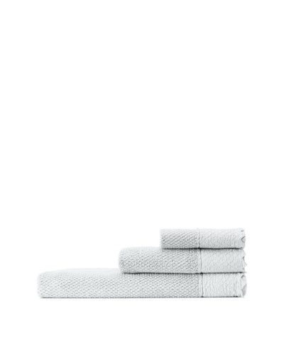 Mili Designs NYC Stonewash Towel Set, Light Grey