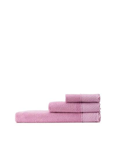 Mili Designs NYC Stonewash Towel Set, Fuchsia