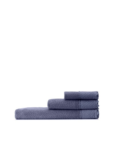 Mili Designs NYC Stonewash Towel Set, Denim Blue