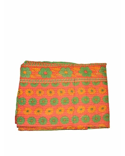 Mili Designs NYC One of a Kind Vintage Kantha Throw, Multi, 50 x 80
