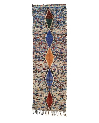 "Mili Designs NYC Boucherouite Rug, Multi, 3' 2"" x 10' Runner"