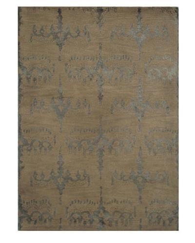 Mili Designs NYC Moss Brocade Rug, 5' x 8'