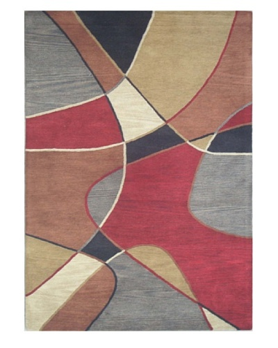 Mili Designs NYC Oval Patterned Rug, Multi, 5' x 8'