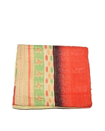 Mili Designs NYC One of a Kind Vintage Kantha Throw, Multi, 50 x 80