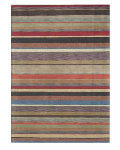 Mili Designs NYC Lines Patterned Rug, Multi, 5' x 8'