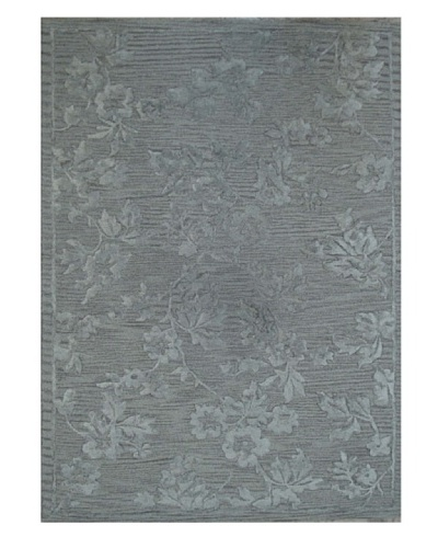 Mili Designs NYC Gray Rosy Rug, 5' x 8'