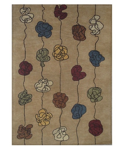 Mili Designs NYC Chain Patterned Rug, Multi, 5' x 8'