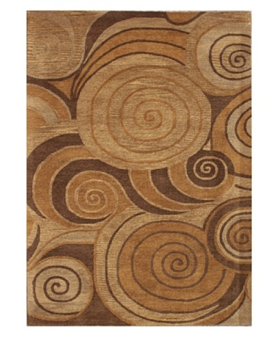 Mili Designs NYC Lollipop Patterned Rug, Tan/Multi, 5' x 8'