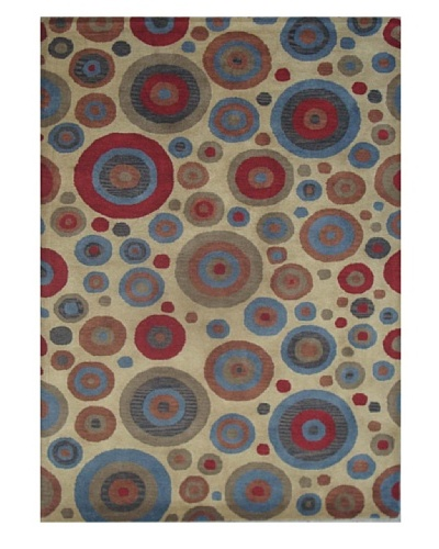 Mili Designs NYC Circles Patterned Rug, Multi, 5' x 8'