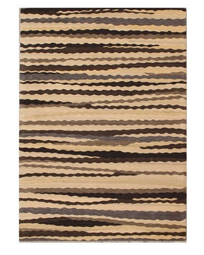 Mili Designs NYC Sandy Patterned Rug, Tan/Multi, 5' x 8'