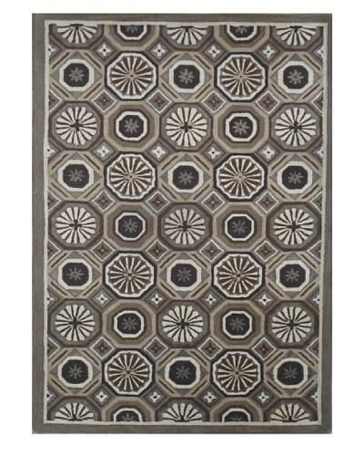 Mili Designs NYC Floral Tile Rug, 5' x 8'