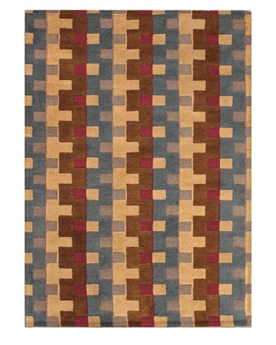 Mili Designs NYC Bricklane Patterned Rug, Multi, 5' x 8'