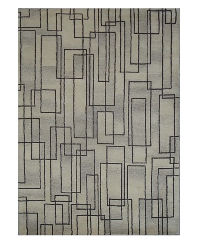 Mili Designs NYC Lined Rectangles Rug, 5' x 8'