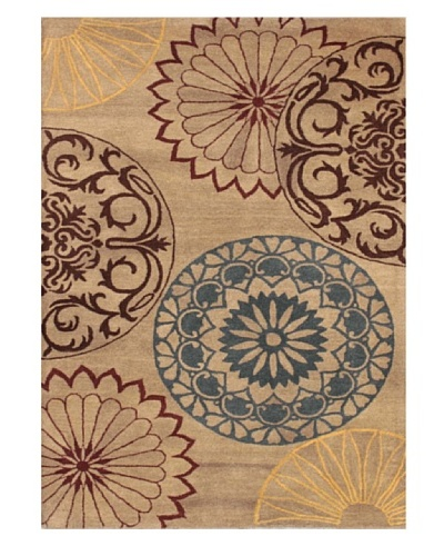 Mili Designs NYC Paisley Patterned Rug, Beige/Multi, 5' x 8'