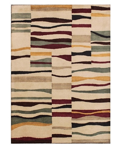 Mili Designs NYC Geo Patterned Rug, Cream/Multi, 5' x 8'