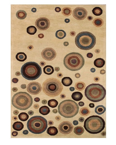 Mili Designs NYC Dots Patterned Rug, Multi, 5' x 8'