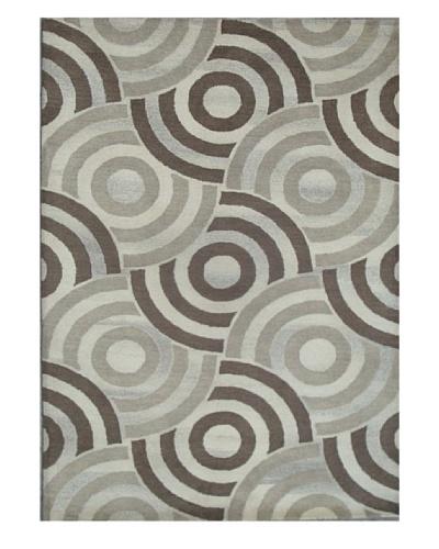 Mili Designs NYC Overlapping Circles Rug, 5' x 8'