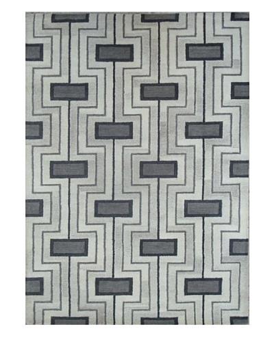Mili Designs NYC Gray Geo Rug, 5' x 8'