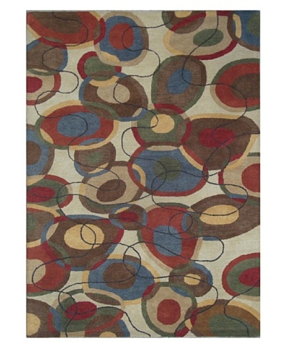 Mili Designs NYC String Patterned Rug, Multi, 5' x 8'