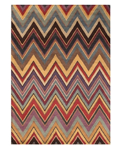 Mili Designs NYC Colorful Zig Zag Rug, 5' x 8'