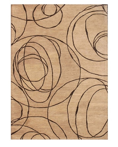 Mili Designs NYC Abstract Patterned Rug, Beige/Brown, 5' x 8'