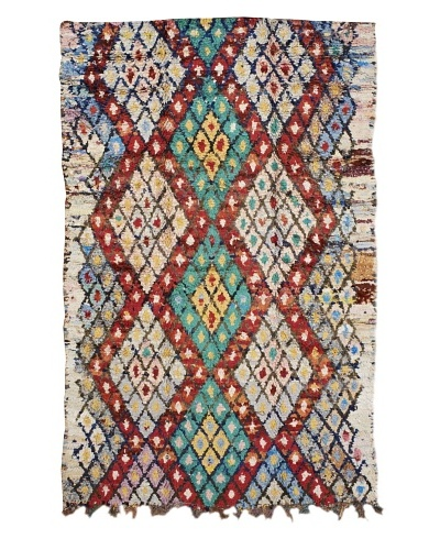 Mili Designs NYC Boucherouite Rug, Green/Multi, 5' 9 x 8' 10