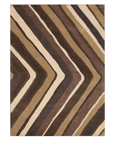 Mili Designs NYC V Patterned Rug, Tan/Multi, 5' x 8'
