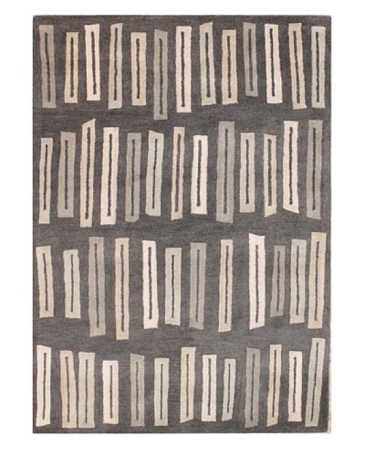 Mili Designs NYC Retro Rectangles Rug, 5' x 8'