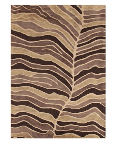 Mili Designs NYC Leaf Patterned Rug, Tan/Multi, 5' x 8'