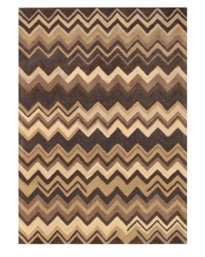 Mili Designs NYC Zigzag Patterned Rug, Multi, 5' x 8'