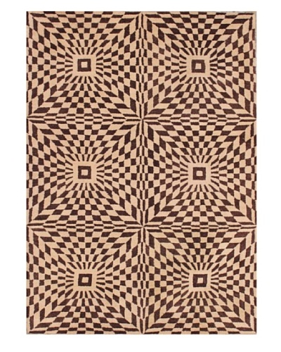 Mili Designs NYC Moroccan Patterned Rug, Brown/Tan, 5' x 8'