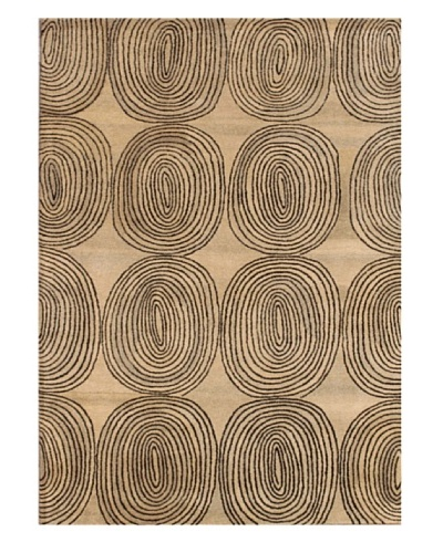 Mili Designs NYC Lined Circles Rug, 5' x 8'