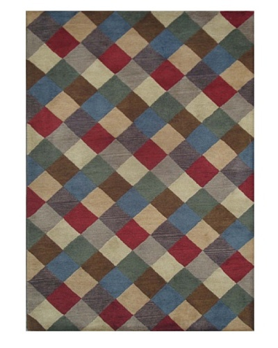 Mili Designs NYC Criss Cross Patterned Rug, Multi, 5' x 8'