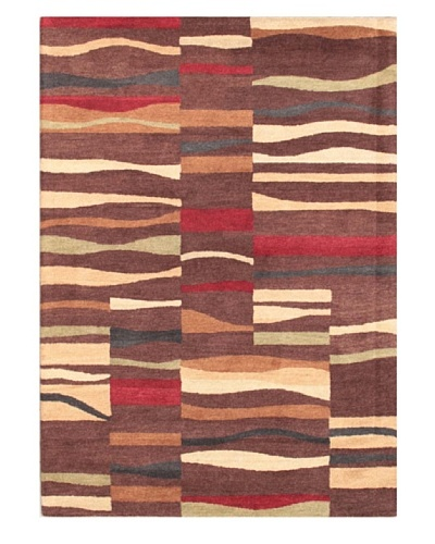 Mili Designs NYC Floral Patterned Rug, Brown/Multi, 5' x 8'