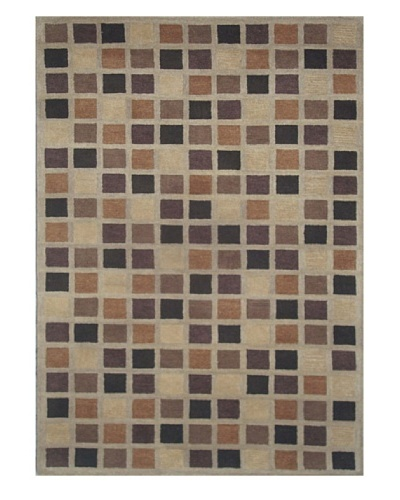 Mili Designs NYC Brown Pixels Rug, 5' x 8'