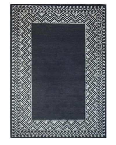 Mili Designs NYC Black Zig Zag Rug, 5' x 8'
