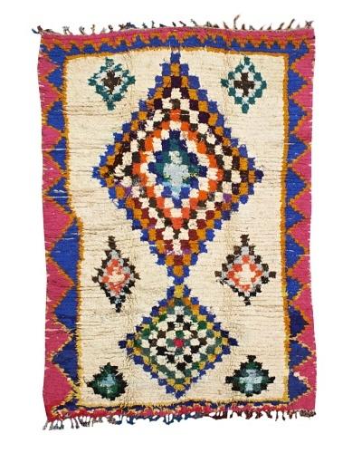 Mili Designs NYC Boucherouite Rug, Fuchsia/Multi, 5' x 7' 2