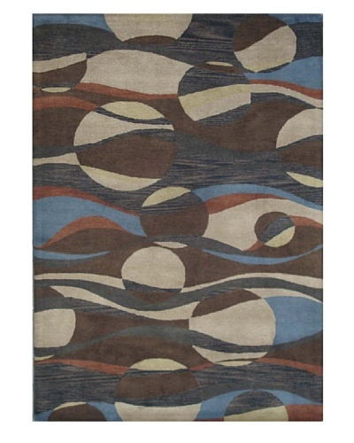 Mili Designs NYC Ocean Patterned Rug, Multi, 5' x 8'