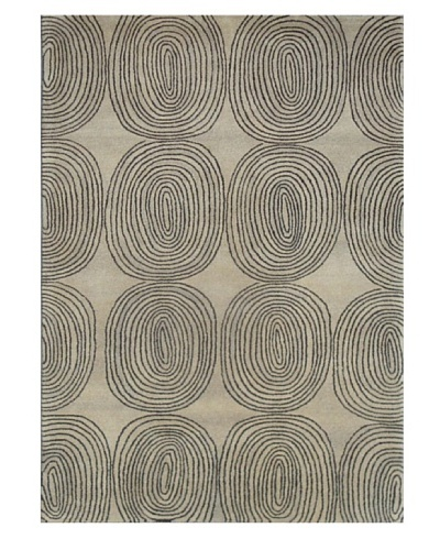 Mili Designs NYC Circular Lines Rug, 5' x 8'