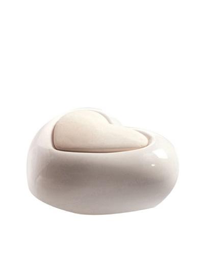 Millefiori Milano Porcelain Heart Diffuser, White