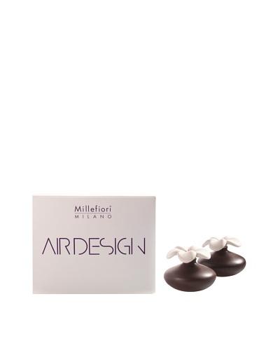 Millefiori Milano Set of 2 Mini Porcelain Flower Diffusers, Brown
