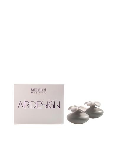 Millefiori Milano Set of 2 Mini Porcelain Flower Diffusers, Grey