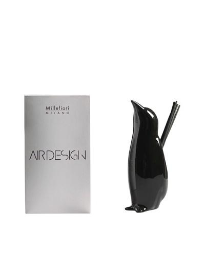 Millefiori Milano Ceramic Penguin Diffuser, Glossy Black