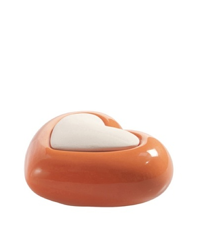 Millefiori Milano Porcelain Heart Diffuser, Orange